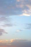 Белые облака на фото предпосылки голубого неба Стоковое Фото