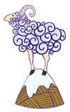 Белые овцы на холме Стоковое Изображение