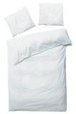 Белые одеяло и подушки Стоковое Фото