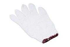 Белые перчатки на белой предпосылке Стоковые Фото