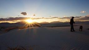 Белые пески пустыня, Неш-Мексико стоковая фотография rf