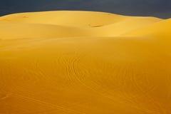 Белые песчанные дюны в Ne Mui, Вьетнам Стоковые Изображения RF