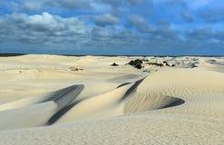 Белые песчанные дюны заповедника Nilgen Стоковое Фото