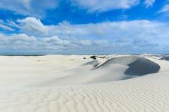 Белые песчанные дюны заповедника Nilgen Стоковые Фотографии RF