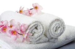 Белые полотенца Стоковая Фотография
