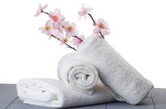 Белые полотенца Стоковые Изображения RF