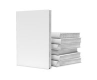 Белые пустые книги на белой предпосылке Стоковое Изображение RF