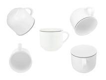 Белые пустые чашки Стоковые Фотографии RF