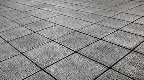 Белые плитки смолотые в черно-белом Стоковые Изображения RF