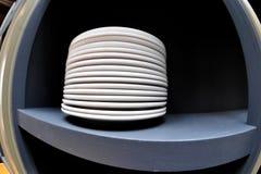 Белые плиты Стоковые Изображения RF