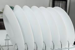 Белые плиты Стоковые Фотографии RF