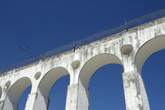 Белые своды на Arcos da Lapa Рио-де-Жанейро Бразилии Стоковое Изображение
