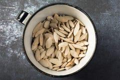 Белые семена тыквы Стоковые Изображения RF