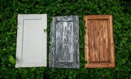 Белые, серые и коричневые двери Стоковое фото RF