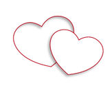 Белые сердца влюбленности Стоковые Фотографии RF
