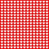 Белые сердца на красном цвете Стоковые Фото