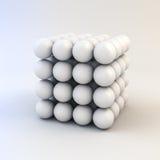 белые сияющие сферы 3d Стоковое фото RF