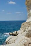 Белые скалы песчаника Стоковое Изображение