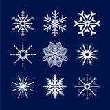 Белые снежинки вектора Стоковые Фотографии RF
