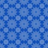 Белые снежинки на голубой предпосылке иллюстрация штока
