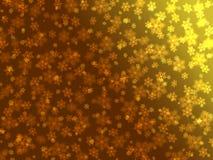 Белые снежинки на желт-коричневой предпосылке Стоковые Фото