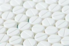 Белые таблетки или медицина Стоковое Изображение