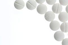 Белые таблетки Стоковое Изображение