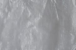 Белые текстура и предпосылка сумки мешка Стоковое Фото