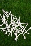 Белые тройники гольфа Стоковая Фотография