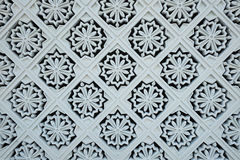 Белые украшения плитки на наружной стене нового королевского дворца стоковое изображение rf