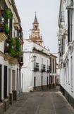 Белые улицы Carmona Испания стоковое фото rf