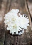 Белые хризантемы в букете Стоковые Фотографии RF
