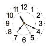 Белые часы стены Стоковое Изображение