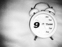 Белые часы Стоковая Фотография