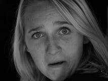 белые черные эмоции Стоковые Фото
