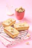 Белые шоколадные торты с гайками макадамии Стоковая Фотография