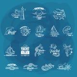 Белые эмблемы плавать клуб Стоковое Изображение