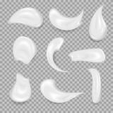 Белые cream элементы Элемент для рекламировать и выдвиженческое сообщения Иллюстрация вектора для ваших дизайна и дела Стоковое Фото