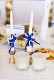 Белые wedding свечи Стоковое фото RF