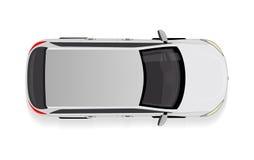 Белый автомобиль от иллюстрации вектора взгляд сверху бесплатная иллюстрация