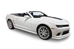Белый автомобиль с откидным верхом изолированный на белизне Стоковое Изображение