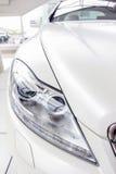 Белый автомобиль Стоковые Изображения RF