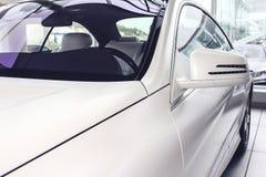 Белый автомобиль Стоковое Изображение