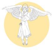 Белый ангел иллюстрация штока