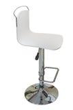 Белый барный стул с задней частью на белой предпосылке Стоковые Изображения RF