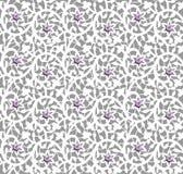 Белый безшовный цветочный узор с шнурком и жемчугами бесплатная иллюстрация