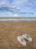 Белый ботинок Стоковое Фото