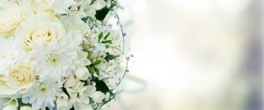 Белый букет венчания Стоковые Изображения RF