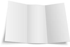 Белый буклет шаблона внутрь Стоковые Фотографии RF