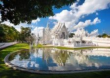 Белый висок в северном Таиланде Стоковая Фотография RF